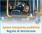 Spese per abbonamento al trasporto pubblico 2019: regole di detrazione