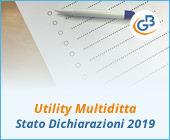 Utility Multiditta: Stato delle Dichiarazioni 2019