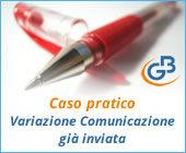 Caso pratico: variazione Comunicazione già inviata