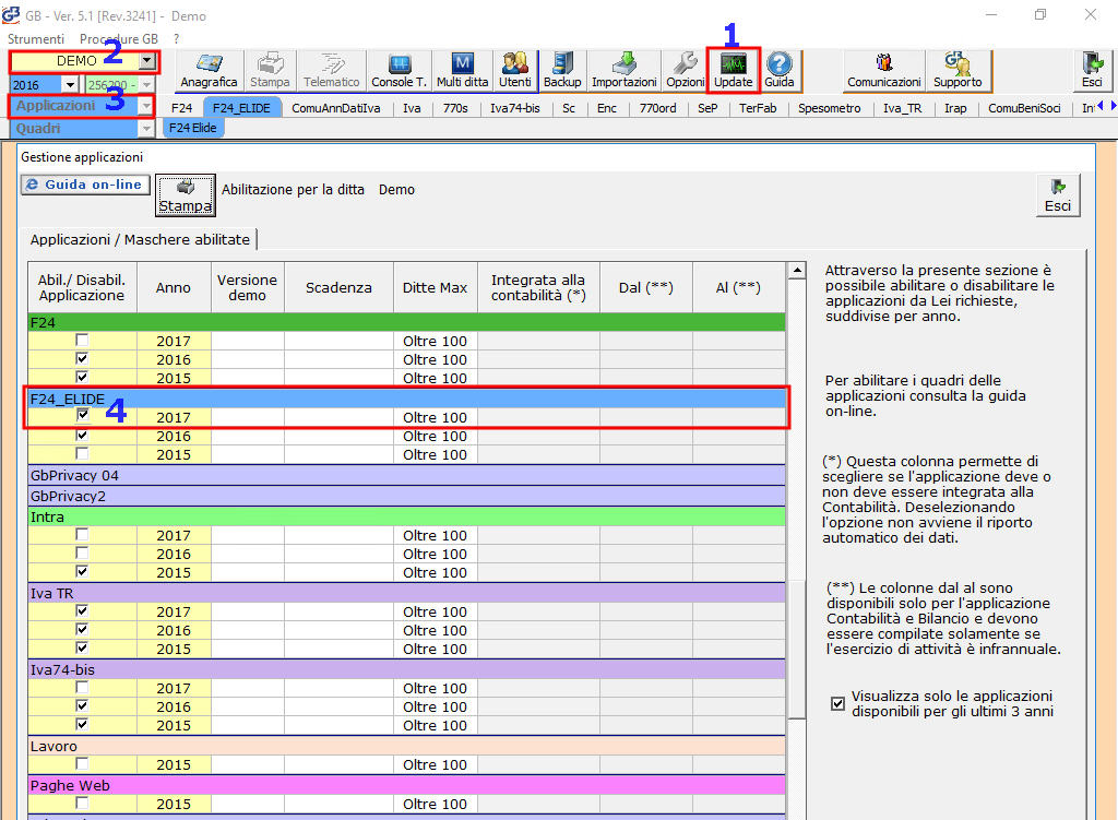 F24 elide 2017 rilascio applicazione integrato gb for Istruzioni compilazione f24 elide