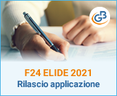 F24 ELIDE 2021: rilascio applicazione