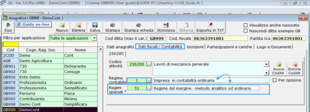 Software Regime del Margine - Software Contabilità GB