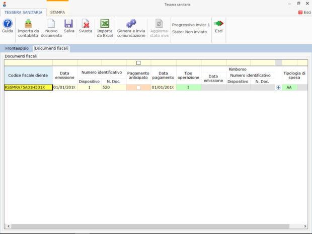 Software Trasmissione dati Sistema Tessera Sanitaria