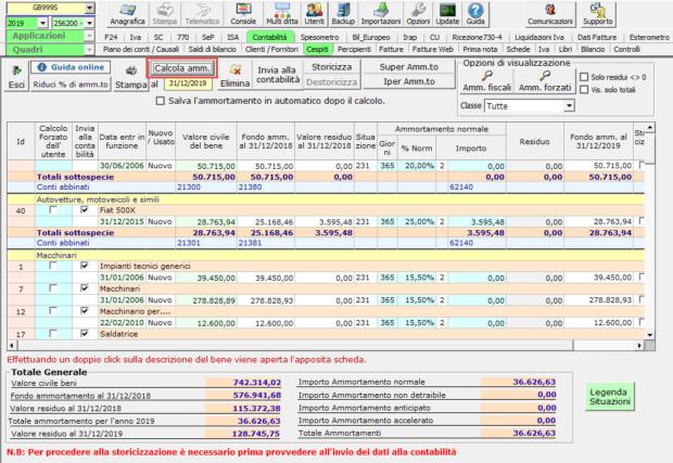 Acquisizione nuovo cliente e gestione dei cespiti: caso pratico - Calcola ammortamento