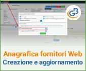 Anagrafica fornitori Web: creazione e aggiornamento automatico