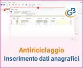 Antiriciclaggio: inserimento dei dati anagrafici