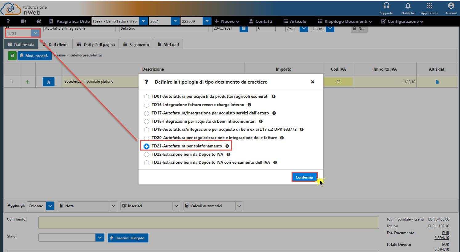 C:\Users\LucaTosti\Gbsoftware S.p.A\Newsletter - General\Newsletter2021\02 Febbraio 2021\Immagini\Nuovi tipi documento autofatture parte 2 - Creazione XML FE