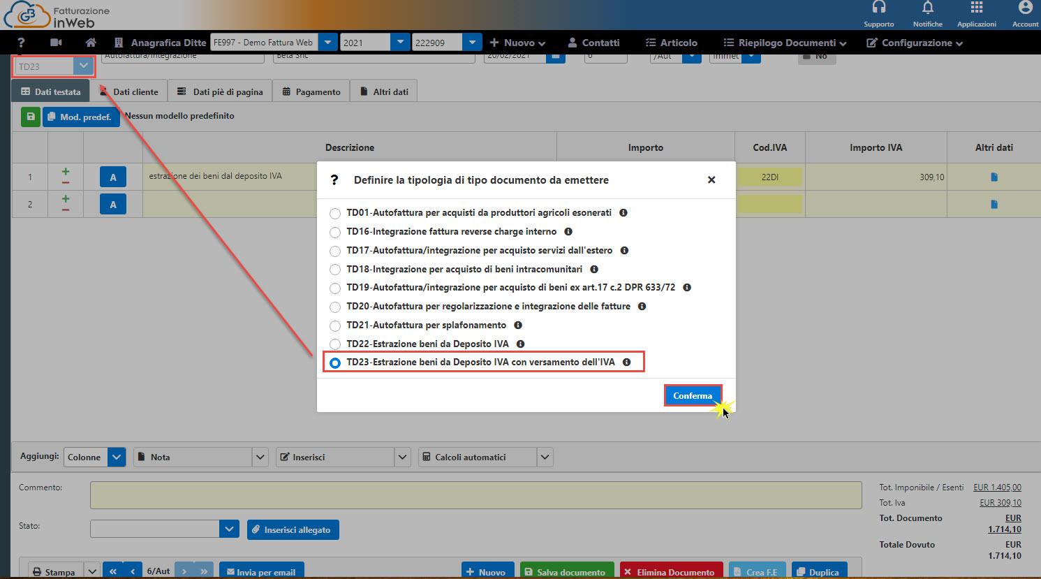 C:\Users\LucaTosti\Gbsoftware S.p.A\Newsletter - General\Newsletter2021\02 Febbraio 2021\Immagini\Nuovi tipi documento autofatture parte 2 - Estrazione beni da deposito IVA