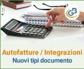 Autofatture/Integrazioni: nuovi tipi documento - parte