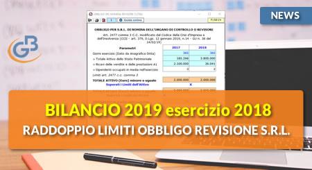 News - Bilancio 2019: raddoppio limiti obbligo revisione S.r.l.