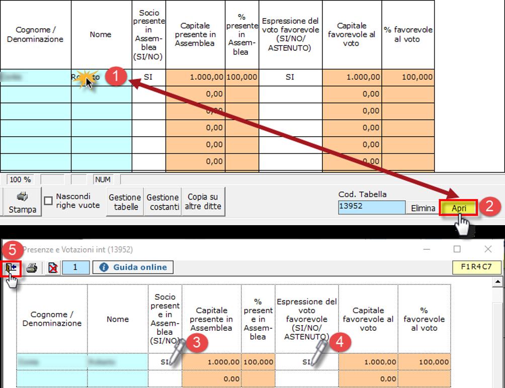 Bilancio 2020: tabelle con soggetti integrati all'anagrafica e calcolo quorum - Inserimento dati nelle nuove tabelle