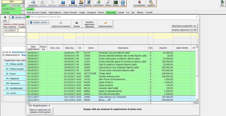 Caso pratico: Bilancio 2017 contabile e 2016 senza contabilità - 4