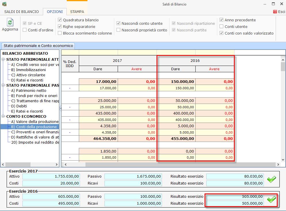 Caso pratico: Bilancio 2017 contabile e 2016 senza contabilità - 6