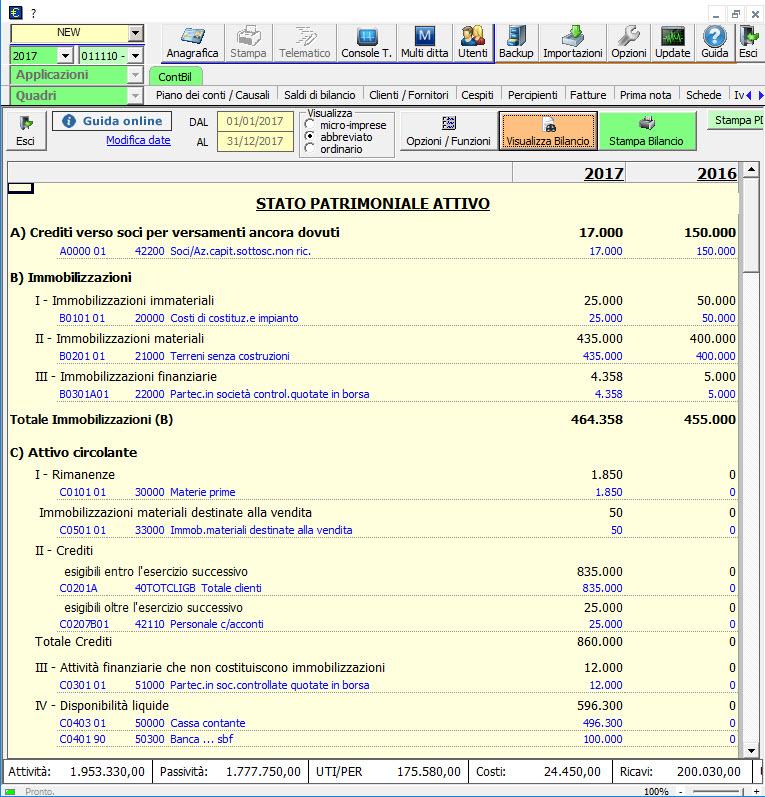 Caso pratico: Bilancio 2017 contabile e 2016 senza contabilità - 7