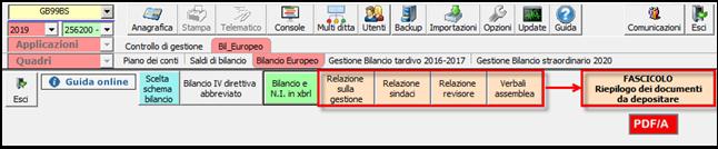Bilancio: corretto flusso fino alla validazione XBRL - Altri file obbligatori