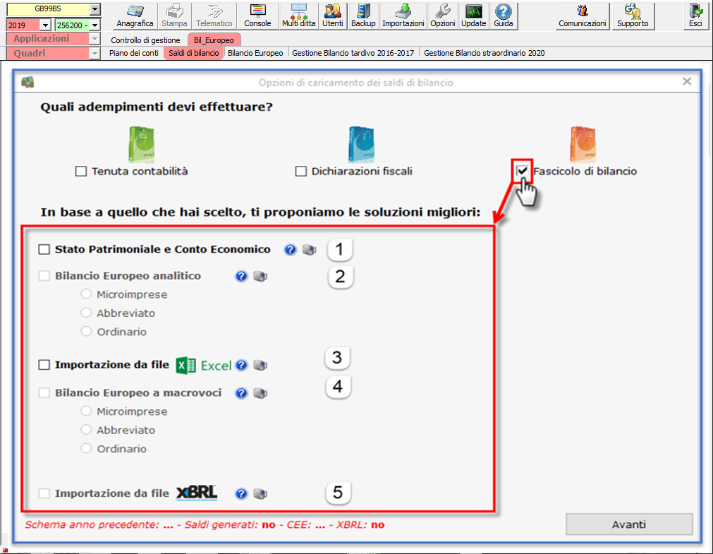 Bilancio: corretto flusso fino alla validazione XBRL - Importazione da XBRL