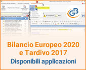 Bilancio Europeo 2020 esercizio 2019 e Tardivo 2017: disponibili applicazioni e principali novità