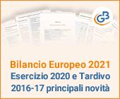 Bilancio Europeo 2021 esercizio 2020 e Tardivo 2016-17 principali novità