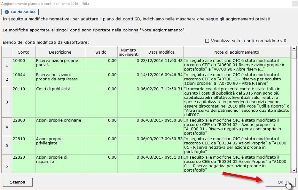 Bilancio Tardivo 2016 - 2017 con tassonomia 2019 - Aggiornamento piano dei conti