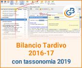 Bilancio Tardivo 2016 - 2017 utilizzando la tassonomia 2019