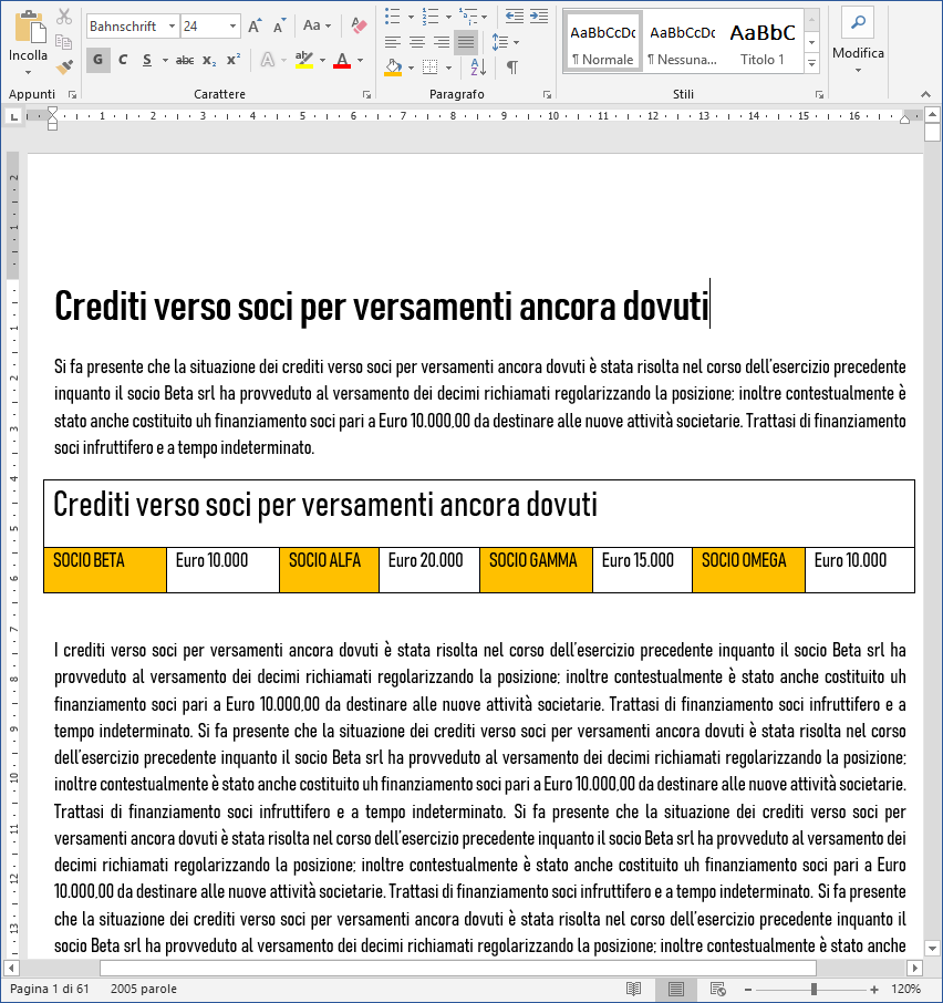 Bilancio XBRL 2018: controlli per validazione dei testi - 1
