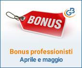 Bonus professionisti: erogazioni confermate per aprile e maggio