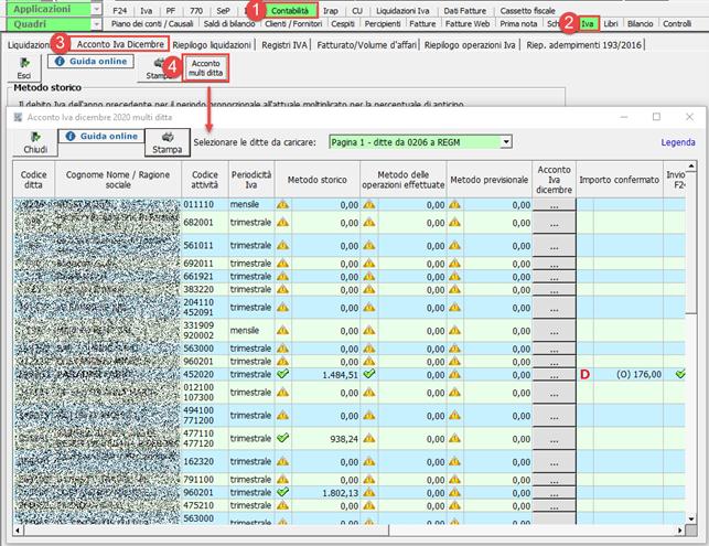 Calcolo acconto Iva 2020 multiditta - Nuova gestione dell'acconto IVA 2020 multiditta