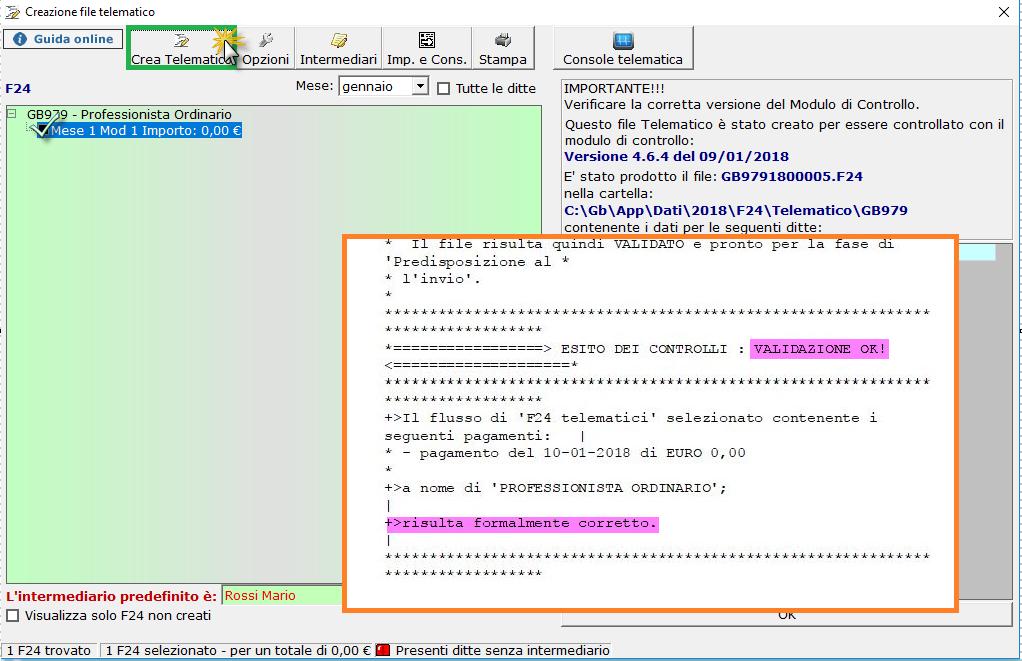 Caso pratico: creazione e invio file telematico da F24 - 3