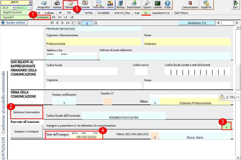 Certificazione Unica 2020: modalità di compilazione -  Creazione telematico CU