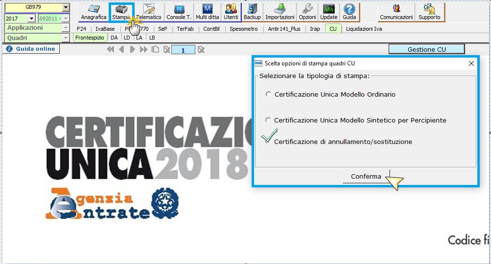 Certificazione Unica 2018: nuova ordinaria, annullamento o sostituzione - 7