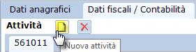 Cessazione attività - ricaricare i saldi da Excel: caso pratico - Click su icona attività