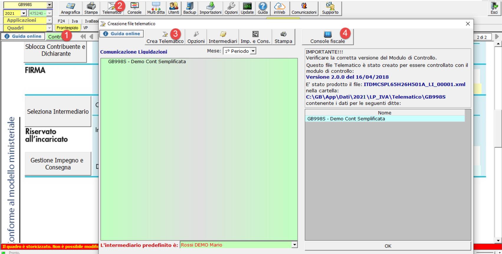Comunicazione Liquidazioni periodiche Iva: invio sostitutivo: creazione file telematico