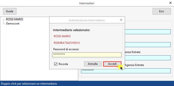 Conservazione Sostitutiva: configurazione e invio delega - Selezione intermediario