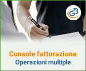 Console Fatturazione: operazioni multiple per firma ed invio