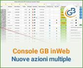 Console GB inWeb: nuove azioni multiple