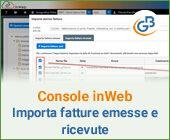 Console inWeb: Importa fatture emesse e ricevute in altri software