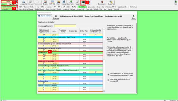Contabilità 2020: rilascio applicazione - update contabilità