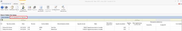 Contabilità 2020: rilascio applicazione - elenco fatture pro forma