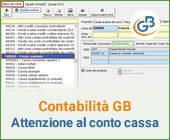 Contabilità GB: attenzione al conto cassa
