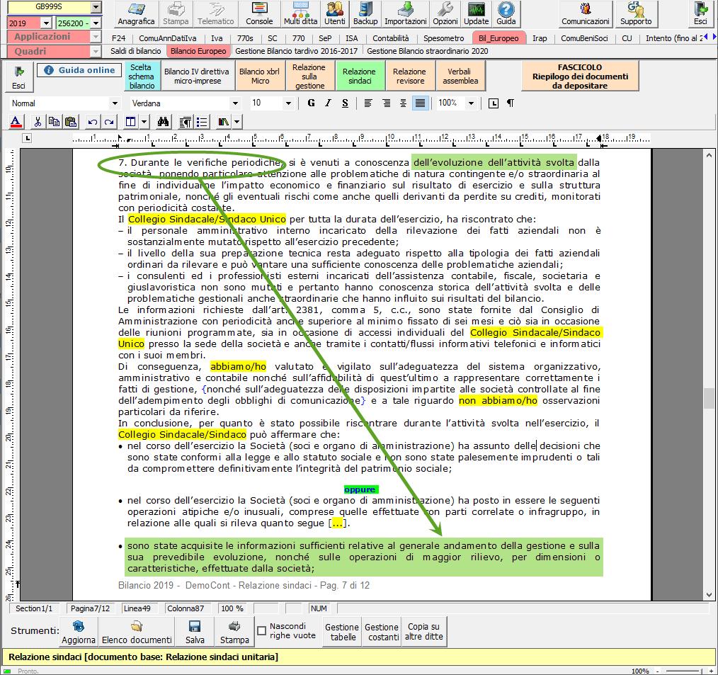 Continuità aziendale e Covid-19: cosa scrivere in bilancio - Sezione attività svolta verifiche periodiche