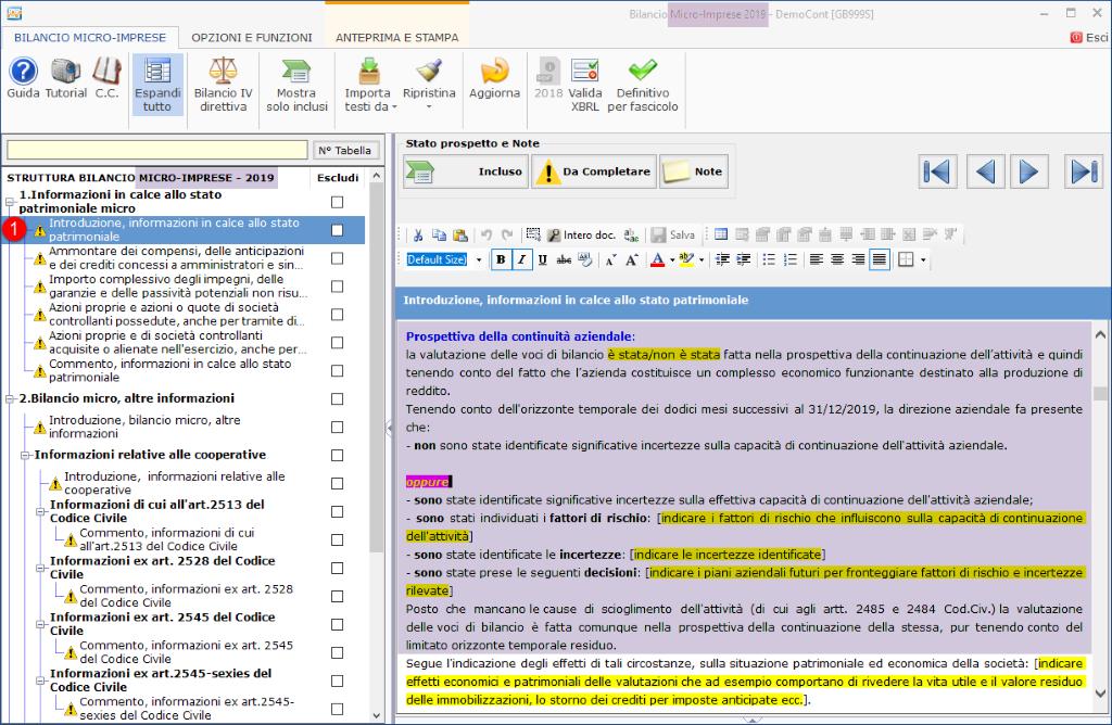 Continuità aziendale e Covid-19: cosa scrivere in bilancio - Introduzione, informazioni in calce allo stato