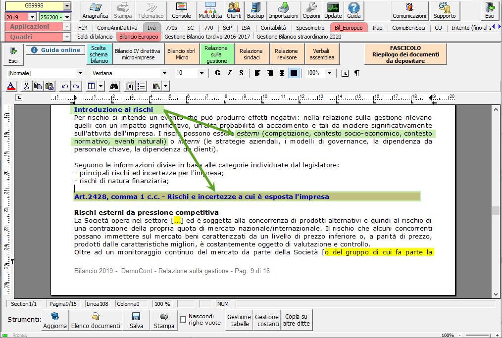 Continuità aziendale e Covid-19: cosa scrivere in bilancio - Sezione rischi e incertezze