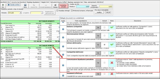 Controlli liquidazioni annuali: comunicazione Li.Pe. - Presenza di dati errati nello stato