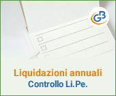 Controlli liquidazioni annuali: comunicazione Li.Pe.