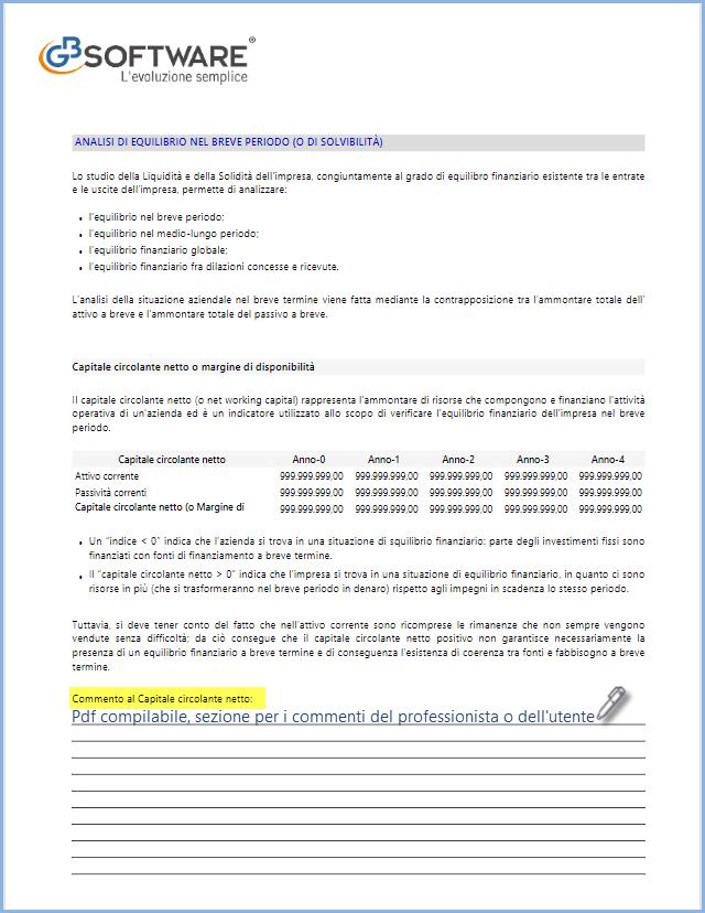 Controllo di Gestione: disponibile Analisi di Bilancio Sintetica - Relazione in PDF compilabile