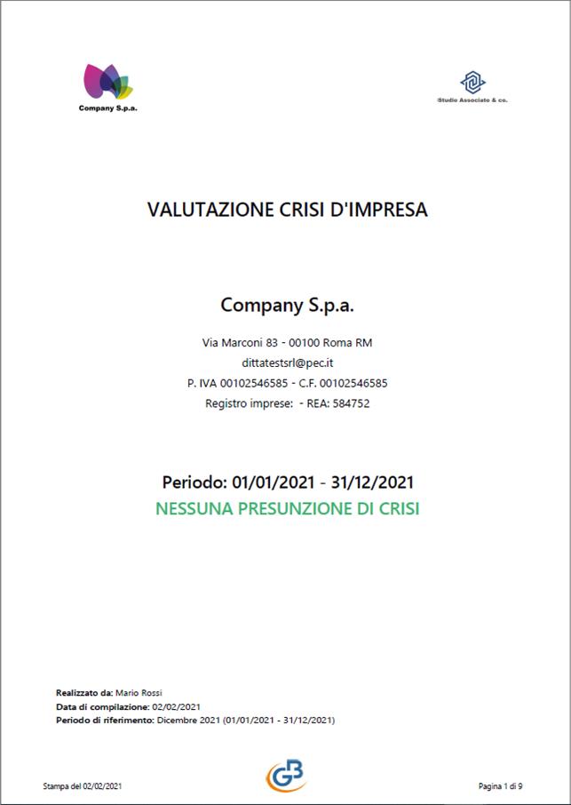 Controllo di Gestione: Relazioni con loghi - Valutazione crisi d'impresa