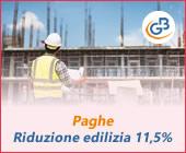 Paghe GB Web 2019: Riduzione edilizia 11.5%