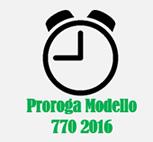 Proroga modello 770 2016