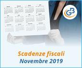Scadenze adempimenti fiscali novembre 2019