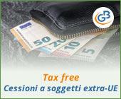Tax free: cessioni a soggetti extra UE